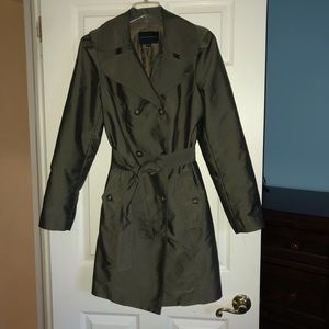 Banana Republic Olive Green Trench Coat Size Large